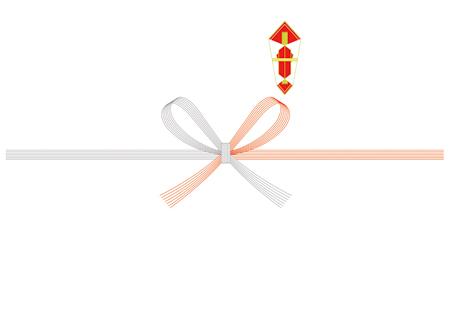 紅白五本花結び(蝶結び)・熨斗あり